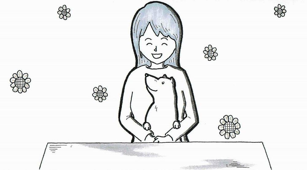 メンタルクリニックのパラパラ漫画の一枚